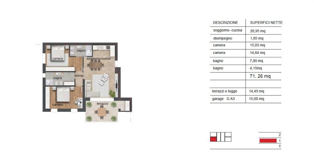 Appartamento in vendita a Albignasego, 3 locali, zona lità: Baraccon (Sant'Agostino), prezzo € 189.000 | PortaleAgenzieImmobiliari.it
