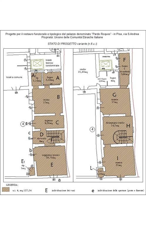 Terratetto, Quartiere San Francesco, Pisa, ristrutturato
